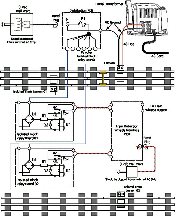 Three Rail Train Detection - [AC detection] on
